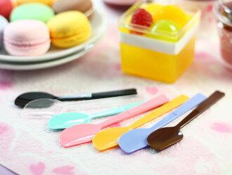 彩色布丁匙、小湯匙、布丁湯匙-100pcs/包