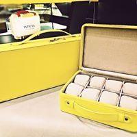 INVICTA皮錶盒-黃(8pc)