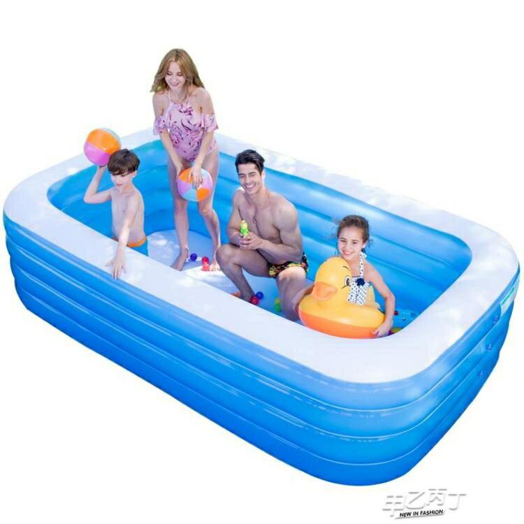 兒童充氣泳池 超大號水上樂園游泳池家用寶寶兒童充氣加厚成人家庭【全館免運 限時鉅惠】