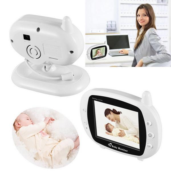 Wifi Digital  Baby Infant Monitor Camera 3.5inch LCD screen 5