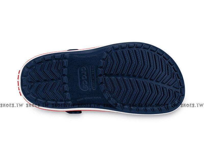 Shoestw【11016-410】CROCS 卡駱馳 鱷魚 輕便鞋 拖鞋 涼鞋 深藍白紅 中性款 1