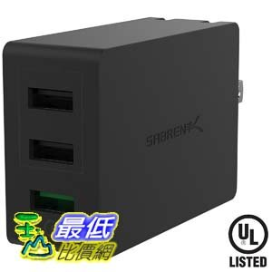 106美國直購  Sabrent AX~QCS3 充電集線器 Quick Charge