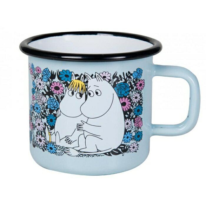 【芬蘭Muurla】嚕嚕米系列-甜心琺瑯馬克杯370cc(藍色)咖啡杯/琺瑯杯