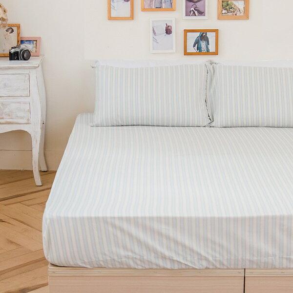 [SN]#B166#寬幅100%天然極緻純棉5x6.2尺雙人床包+枕套三件組(不含被套)*台灣製/床單/床巾