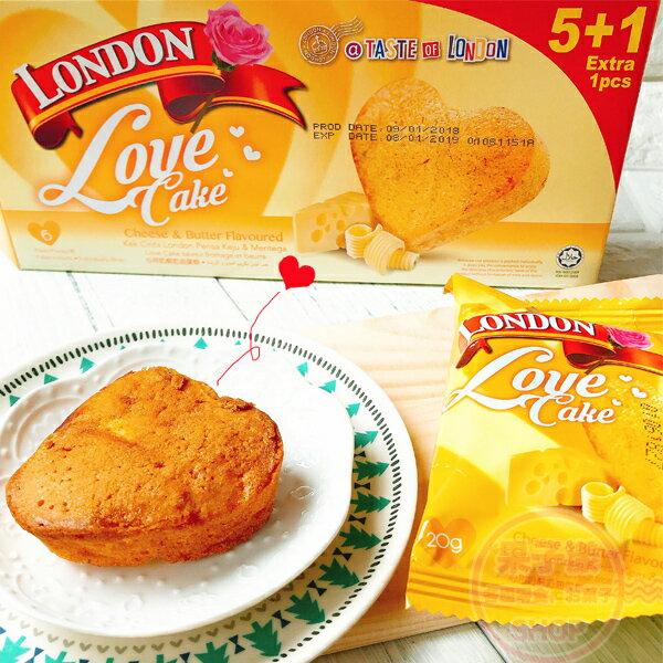馬來西亞London心型蛋糕(乳酪奶油味)小蛋糕[MA015]