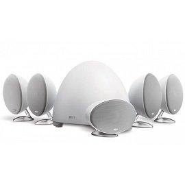 【音旋音響】KEF英國 E305 5.1 衛星喇叭家庭劇院組 純白色 公司貨 一年保固