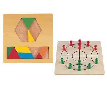 【WORLDZEBRA】幾何八巧板及西瓜棋
