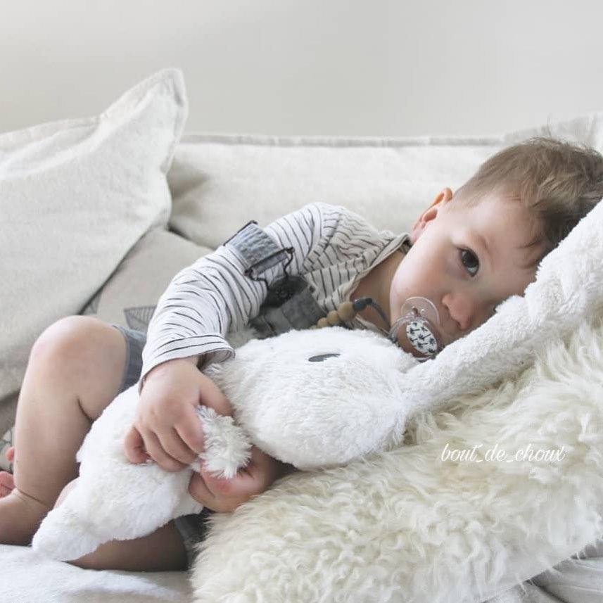 trousselier- 白色超級兔55cm 3