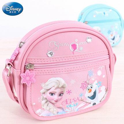 正版Disney迪士尼冰雪奇緣蘇菲亞公主兒童時尚斜背包女童小包包