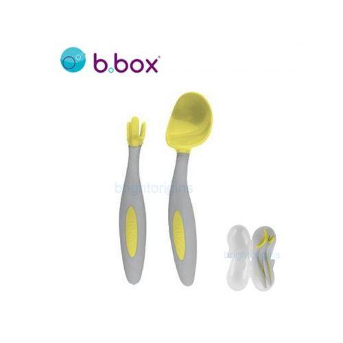 澳洲b.box專利湯匙叉子組(檸檬黃)#7230★衛立兒生活館★