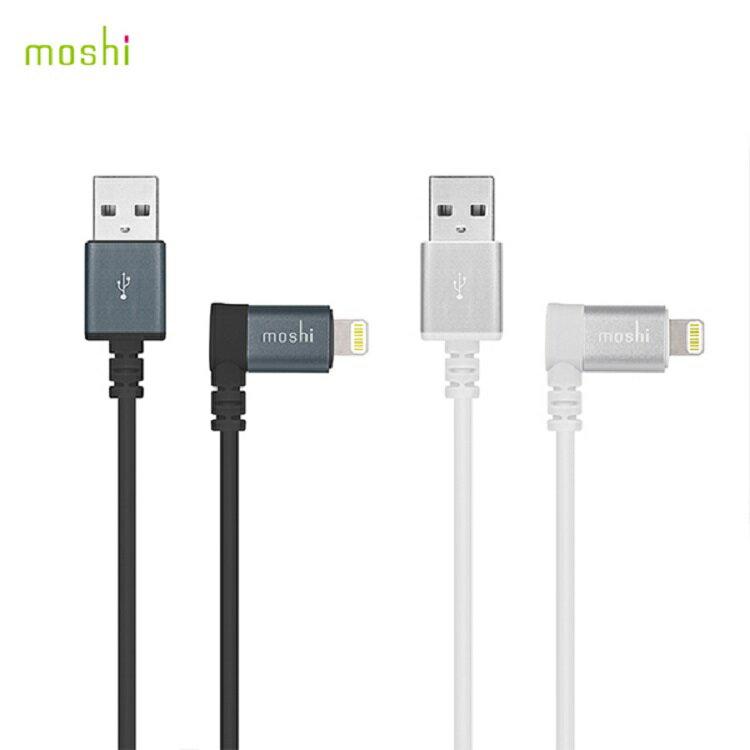 Moshi Lightning to USB 90 彎頭傳輸線 1.5m 需搭配 USB-A 充電器 傳輸線 充電線