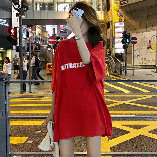 PS Mall OVERSIZE英文字圓領寬鬆短袖T恤【T639】 1