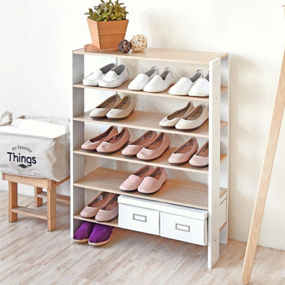 《HOPMA》加寬版開放式五層鞋櫃 /收納櫃 C-S176