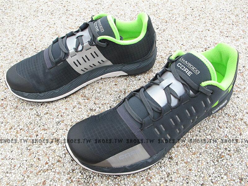 《出清59折》Shoestw【1276524-008】UNDER ARMOUR 慢跑鞋 Charged Core 深灰螢光綠 訓練鞋 男生 1