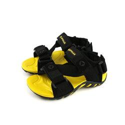 Airwalk  涼鞋 童鞋 黑色/黃色 中童 A823230120 no001