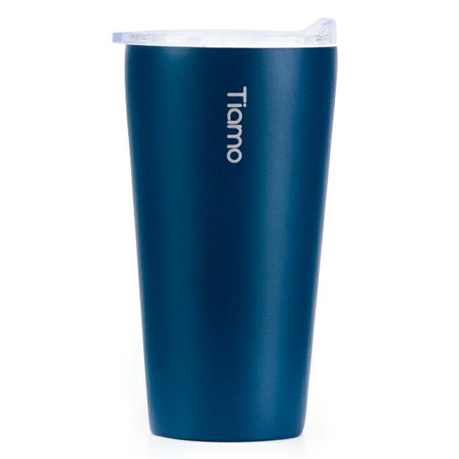 金時代書香咖啡 Tiamo 真空陶瓷隨手杯 410ml 藍 HE5161BL
