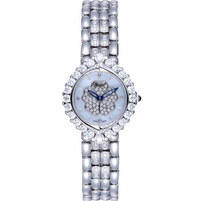 愛其華 Ogival (305-16DLW) 絕美山茶花真鑽腕錶 / 珍珠母貝面 32mm