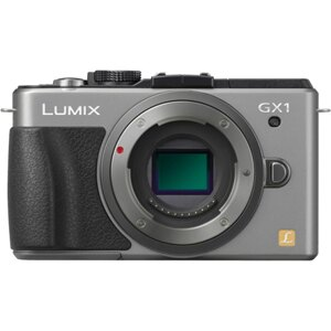 "Panasonic Lumix DMC-GX1 16 Megapixel Mirrorless Camera Body Only - Silver - 3"" Touchscreen LCD - 16:9 - 4x - Optical (IS) - 4592 x 3448 Image - 1920 x 1080 Video - HDMI - PictBridge - HD Movie Mode 1"