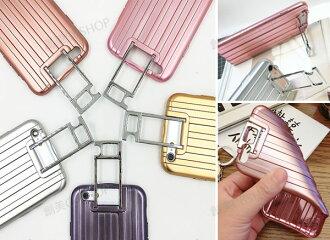 創美[A107] 行李箱拉桿支架防摔軟殼手機殼 IPhone 6 6S PLUS