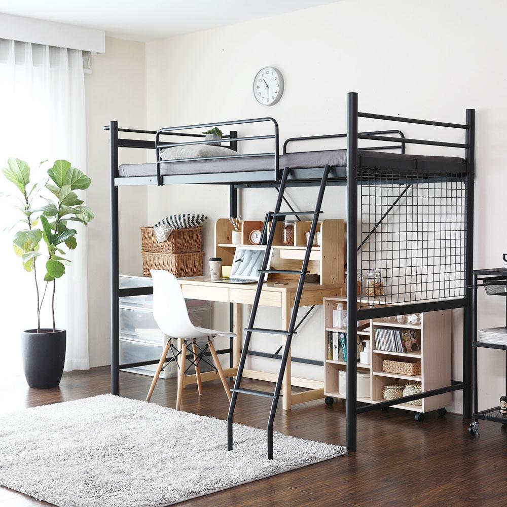 日式 推薦 伯奈爾系列工業風單人雙層鐵床架 / 高腳床(DIY自行組裝 / 不含薄墊)  /  H&D 2