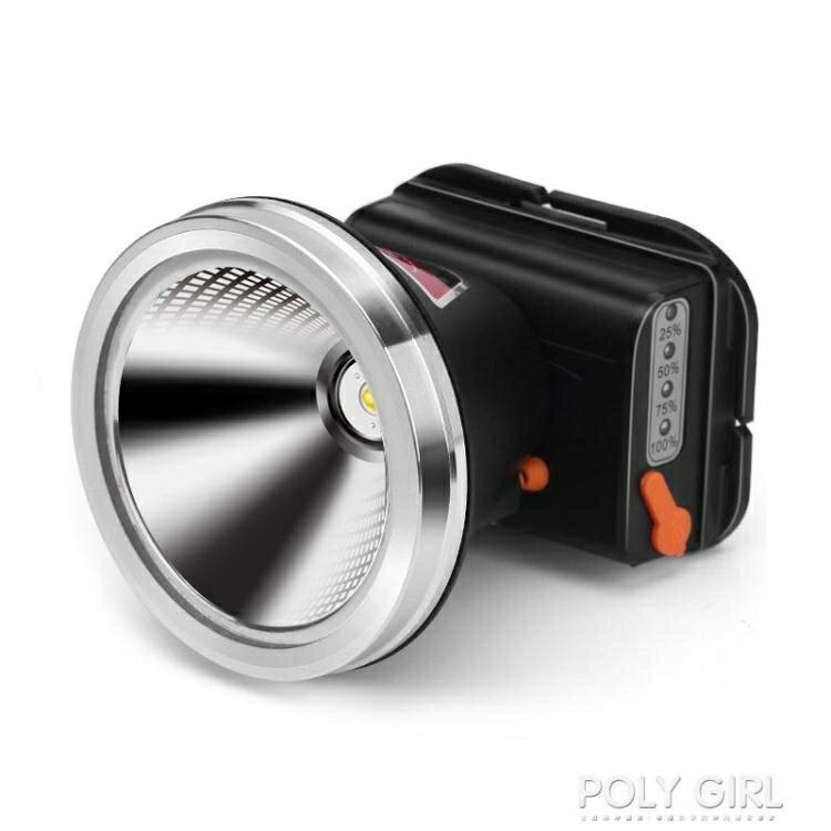 強光頭燈充電超亮頭戴式手電筒釣魚黃光疝氣燈超長續航戶外礦燈【省錢大作戰 全館85折】