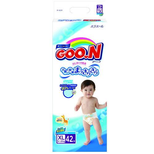大王GOO.N境內版紙尿褲黏貼型XL42片~愛買~