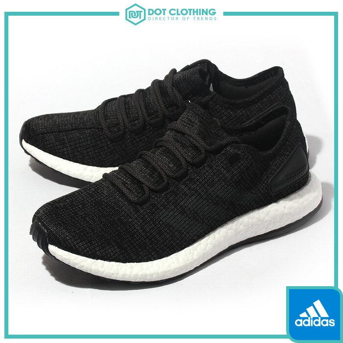 DOT聚點 ADIDAS PURE BOOST PRIMEKNIT 黑白 編織 平民版 350 男 慢跑鞋 BA8899