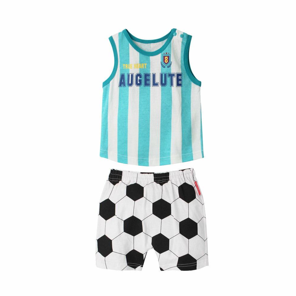 Augelute 無袖背心運動造型上衣加褲子 兩件 / 套 60348 2