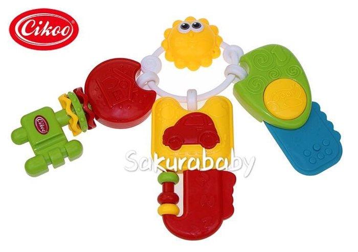 音樂牙膠鑰匙 益智玩具 鑰匙玩具 牙膠玩具 寶寶玩具 櫻花寶寶