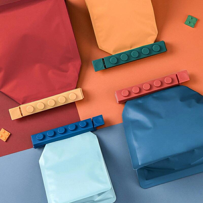 密封口夾塑料保鮮袋茶葉食品袋奶粉零食夾子家用神器密封夾器廚房