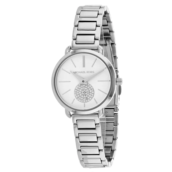 MICHAEL KORS 女錶 28mm 手錶 腕錶 晶鑽錶 MK3837 銀色鋼錶帶 MK(現貨)
