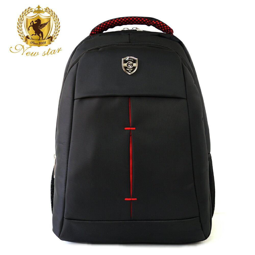 時尚簡約防水極簡雙層後背包電腦包 NEW STAR BK240 2