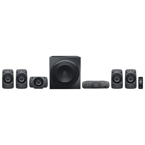 Logitech Z906 3D Surround Sound 5.1 THX Certified, 500W DTS Stereo Speaker System - 980-000467-R 0