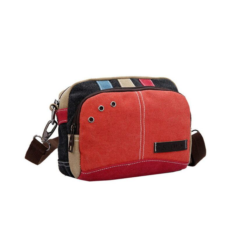 肩背包帆布側背包-實用多功能小巧腰包女包包2色73wa24【獨家進口】【米蘭精品】