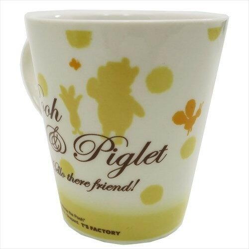 【真愛日本】17120100020 陶瓷馬克杯-PH小豬擁抱 迪士尼 小熊維尼 POOH 日用品 杯子 食器 瓷製品