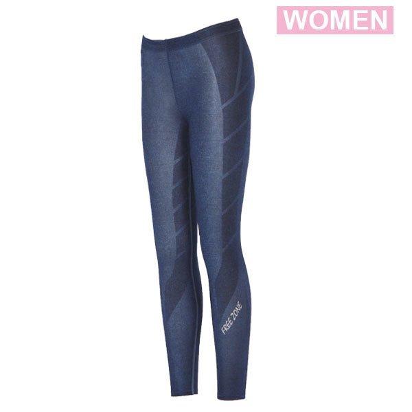 【FREEZONE 台灣】800-II 型 機能壓力褲 運動褲 女款 牛仔 (FZ800IIW)