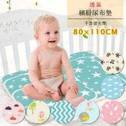 【樂媽咪】繽紛尿布墊 80x110 F026 嬰兒尿布墊 防水墊 保潔墊 隔尿墊 床墊 寵物尿布墊 生理墊