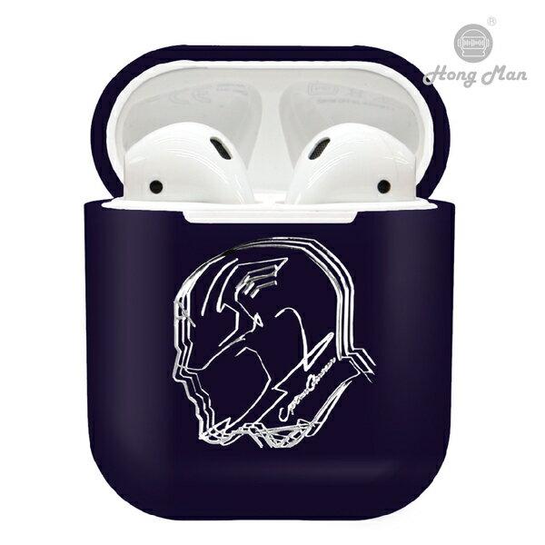 漫威Marvel復仇者聯盟CAMINO AirPods硬式保護套 美國隊長-紫色Captain America  iphone耳機殼 正版3C