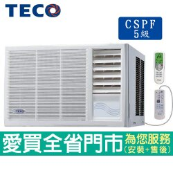 TECO東元5-7坪MW32FR1右吹式窗型冷氣_含貨送到府+基本安裝【愛買】
