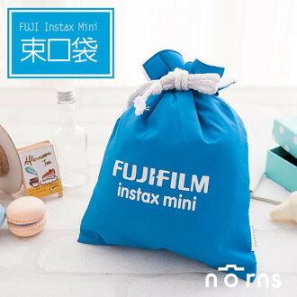 NORNS 【藍色Fujifilm束口袋】富士Mini 7S 8 25 50S 90 拍立得相機保護袋相機包束口袋