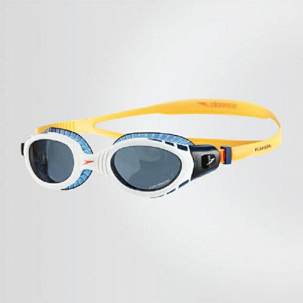 SPEEDO成人運動泳鏡FuturaBiofuseTriathlon(藍橘)運動泳鏡SD811256B985【胖媛的店】