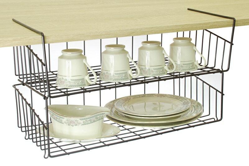 【凱樂絲】媽咪好幫手DIY櫃子鐵線收納籃(吊架式) - 中型, 垂直空間利用-組合式  廚房, 浴室, 客廳, 衣櫃, 櫥櫃適用 2