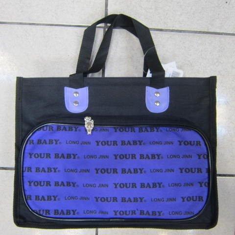 ~雪黛屋~YOUR-BABY 手提袋 多功能萬用袋防水尼龍布材質台灣製造品質保證學生上學用提帶 #1212 紫