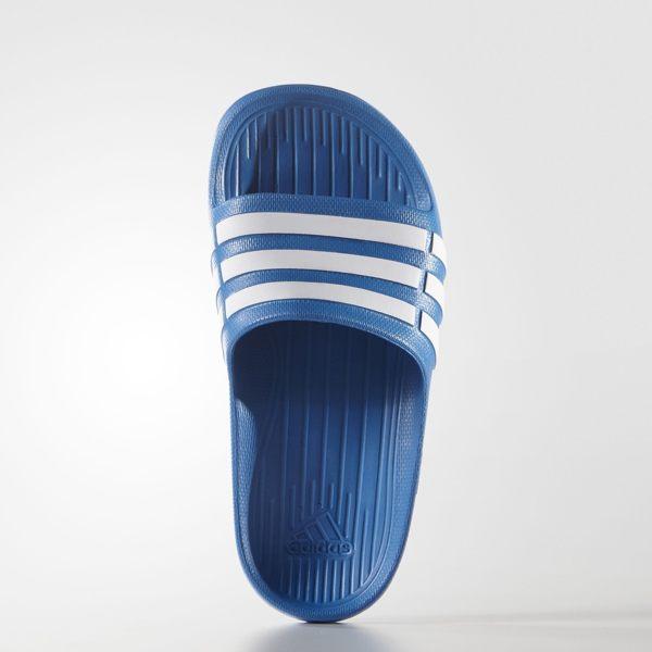 ADIDAS DURAMO SLIDE K 拖鞋 女鞋 童鞋 一體成型藍 白 【運動世界】 D67479