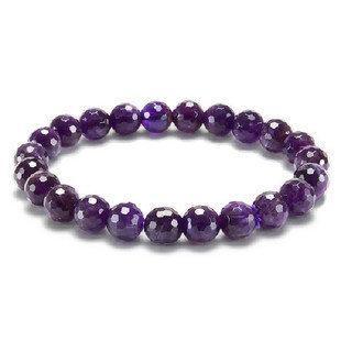 紫晶手鏈紫水晶手串時尚女飾品男女手鏈