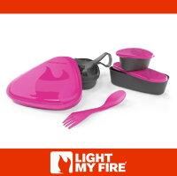 野餐盒不可缺單品萬特戶外運動-瑞典LIGHT MY FIRE 魔術野餐盒6件組 紫紅 環保 露營 戶外餐具