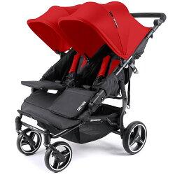 【麗嬰房】西班牙 BABY MONSTER 歐式輕巧型雙人推車 EASY TWIN 3S (熱情紅)