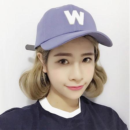 立體W字母棒球帽 平沿帽 棒球帽 老帽 鴨舌帽 中性 情侶帽 宋仲基相似款【B062353】