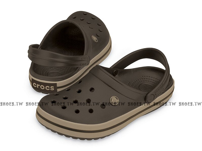 Shoestw【11016-22Y】CROCS 卡駱馳 鱷魚 輕便鞋 拖鞋 涼鞋 咖啡色 中性款