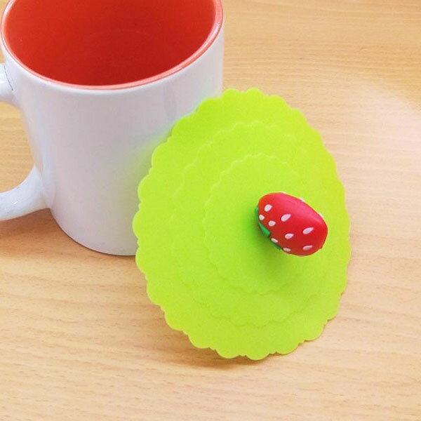 【aife life】B3946 立體草莓矽膠杯蓋/防漏杯蓋/矽膠杯蓋/杯蓋/密封杯蓋/造型杯蓋/杯具/贈品禮品
